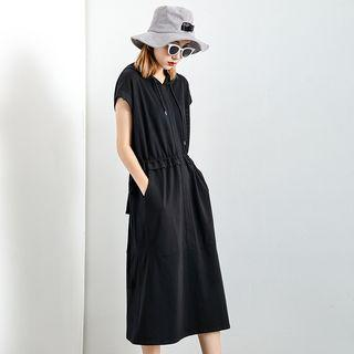 Sleeveless Hooded Midi Dress