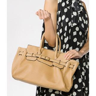 Belt Detail Satchel Beige - One Size