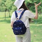 Embroidered Cotton Backpack