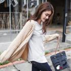 Textured Dropped Shoulder Button-front Cardigan