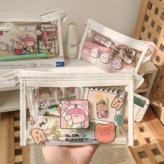 Cartoon Print Pvc Makeup Bag