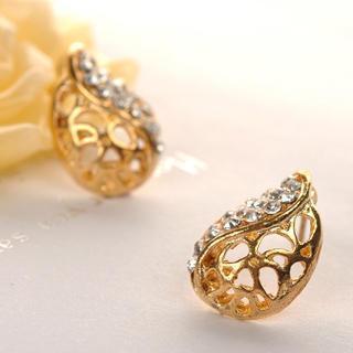 Leaf Earrings  Gold - One Size