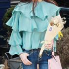 Layered Ruffle Long-sleeve Top