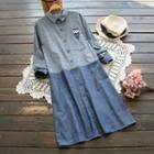 Owl Embroidered Long Shirt