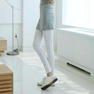 Band-waist Seam-front Pants