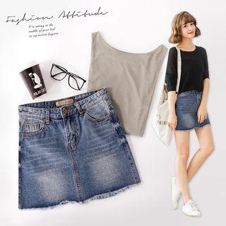 Classic A Line Denim Skirt