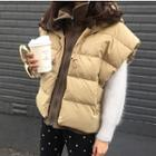 Mock Two Piece Hooded Padded Vest