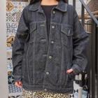 Stitched Oversized Denim Trucker Jacket