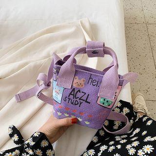 Mini Print Canvas Crossbody Bag