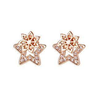 Two-way Flower Earrings