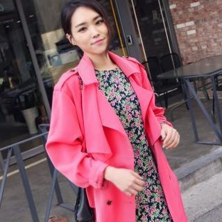 Flap-front Double-breasted Trench Coat