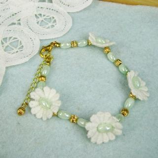 Vintage Classic Lace Flower Bracelet(green)