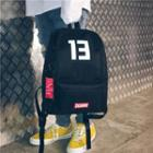 Number Printed Backpack