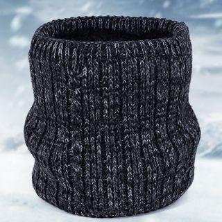 Fleece-lined Knit Infinity Scarf