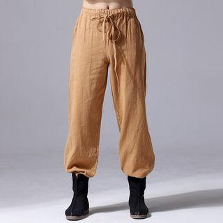 Straight-cut Drawstring Pants