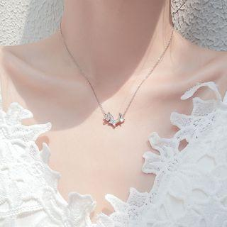 Butterfly Necklace S925 Silver - As Shown In Figure - One Size
