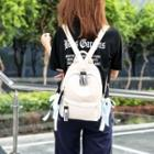 Nylon Bow-accent Backpack