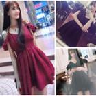 Off Shoulder Halter A-line Dress