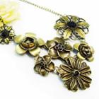 Roses Blossom Vintage Necklace -copper Copper - One Size