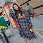 Plaid Hoodie Dress