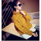 Melange Cable Knit Sweater