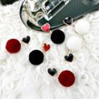 Pom Pom Heart Earrings