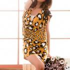 Sleeveless Leopard Mini Dress