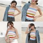 Striped Strapless Knit Top