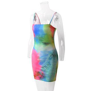 Strappy Sheath Mini Sheath Dress
