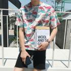Short-sleeve Whale Print T-shirt