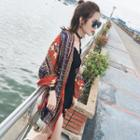 Patterned Tassel Sun Protection Scarf