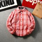 Plaid Padded Buttoned Coat