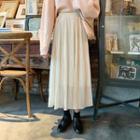 High-waist Chiffon Pleated Skirt