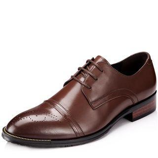 Genuine-leather Brogue Oxfords
