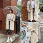 Loose-fit Tailored Long Linen Blazer