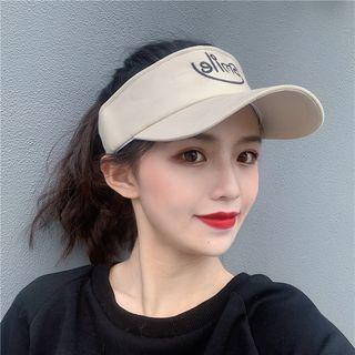 Embroidered Lettering Open Top Baseball Cap