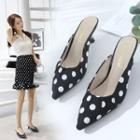 Dotted Pointed Slide Pumps