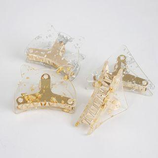 Gold Leaf Cat / Triangle Hair Clamp