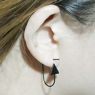 Arrow Drop Earring 1 Pair - Balck - One Size