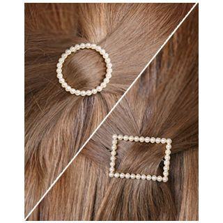 Faux-pearl Hair Barrette (2 Designs)
