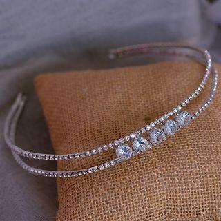 Wedding Rhinestone Headband Headband - White - One Size