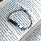 Metal-bar Chain Bracelet Silver - One Size