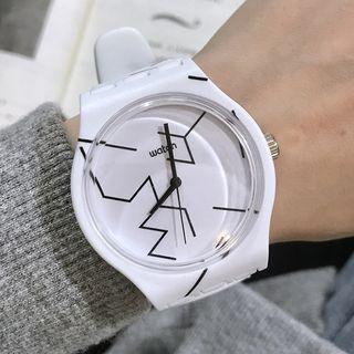 Geometric Print Strap Watch