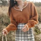Collared Furry Sweater