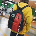 Colorblock Canvas Backpack