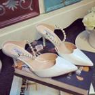 Faux Pearl Pumps