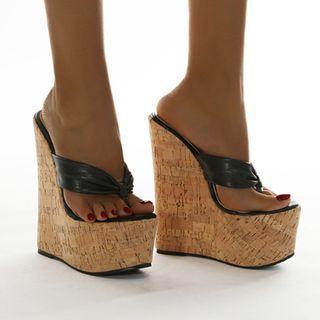 Platform Wedge-heel Flip-flops