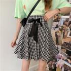 Gingham Bow A-line Skirt