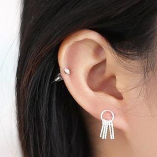 Tasseled Sterling Silver Earrings