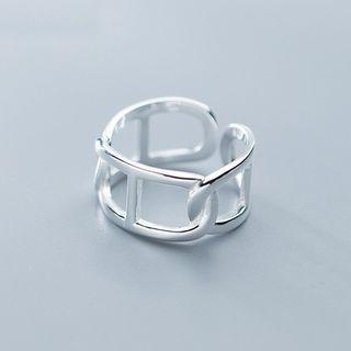 925 Sterling Silver Layered Open Ring S925 Sterling Silver - As Shown In Figure - One Size